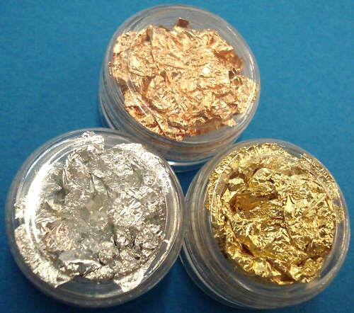 Bastelfolie toque fina lámina de oro y plata /& cobre tarjetas diseño bricolaje