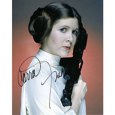 REPRINT - CARRIE FISHER 3 Star Wars Princess Leia autographed signed photo copy