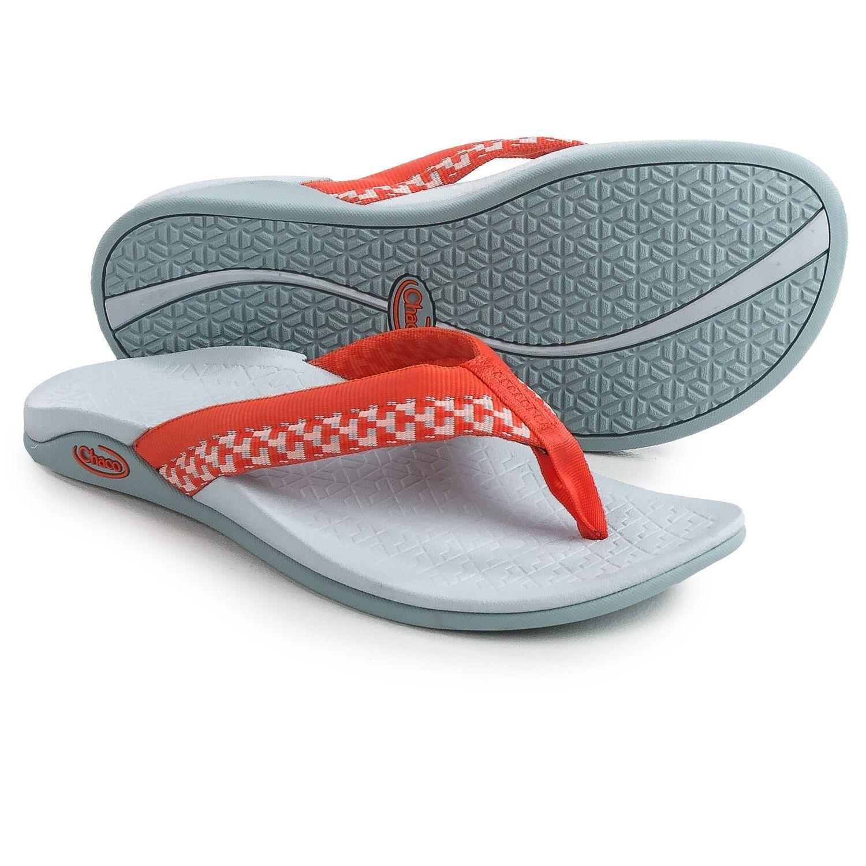 Chaco para mujer Aurora Cloud-Block Tango Coral Naranja Flip Flops Tamaño 5