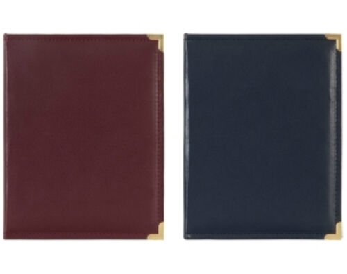 Leatherette  Library Style Metal Corner Slip in Type Photo Album Two Size-Innova