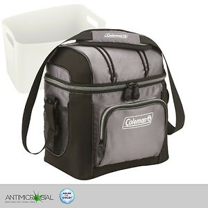 Coleman-Cooler-Gray-Bag-9-Can-Soft-Picnic-Lunch-Portable-Food-Drinks-Sport-BBQ