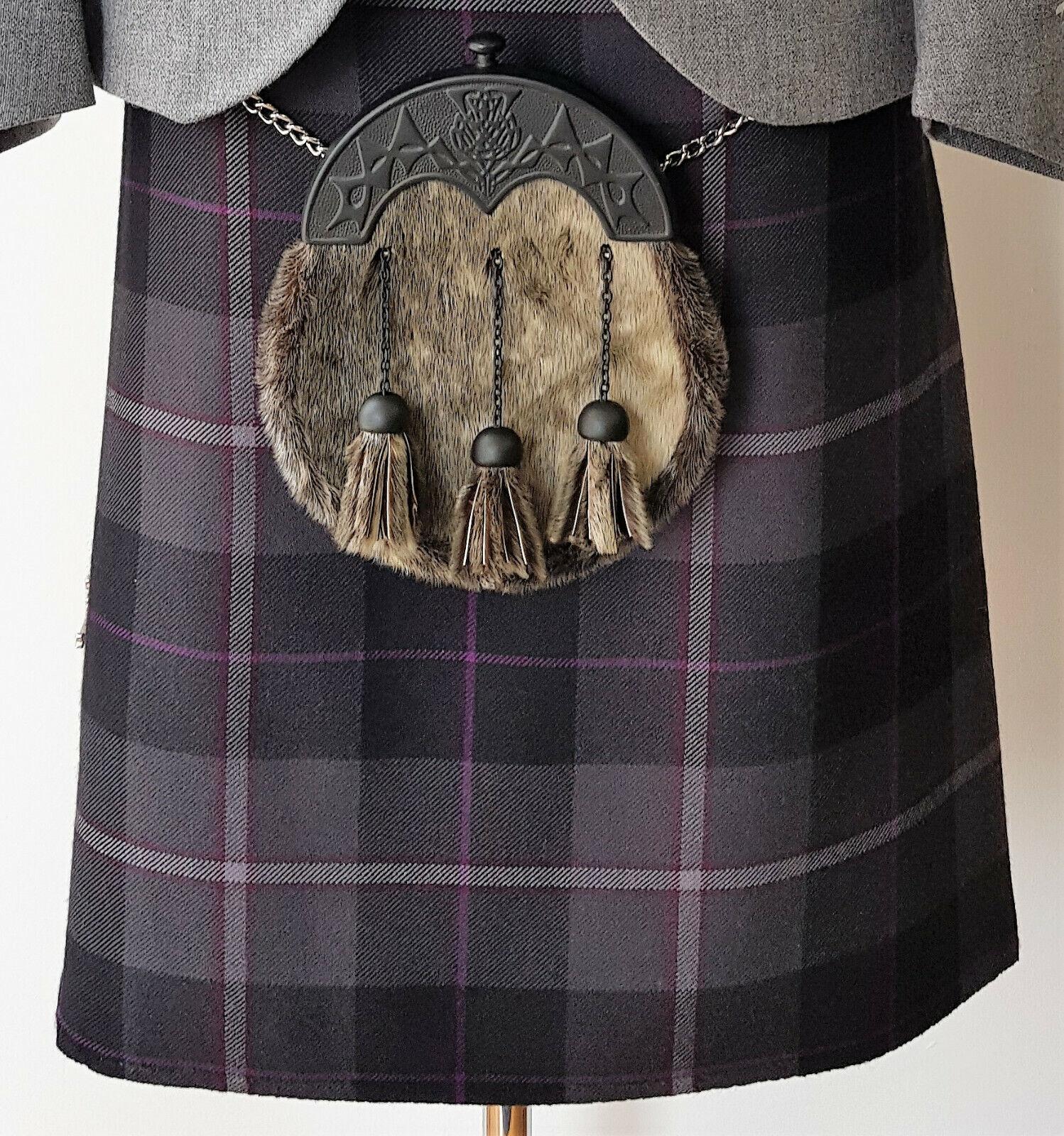5 Yard Passion of Scotland Pewter 16oz Wool Kilt 24