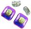 DICHROIC-Post-EARRINGS-1-4-034-7mm-Magenta-Purple-Yellow-Crinkle-Tiny-GLASS-STUD thumbnail 3