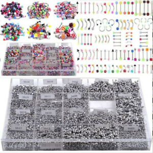 105pcs-Bulk-lots-Body-Piercing-Eyebrow-Jewelry-Belly-Tongue-Bar-Rings-Wholesale