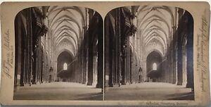 Interno-la-Cattedrale-di-Strasburgo-Fotografia-Stereo-Vintage