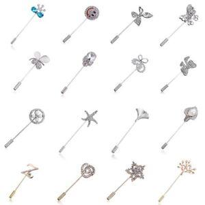 Rhinestone-Hollow-Letter-Butterfly-Flower-Brooch-Pin-Women-Costume-Jewelry-New