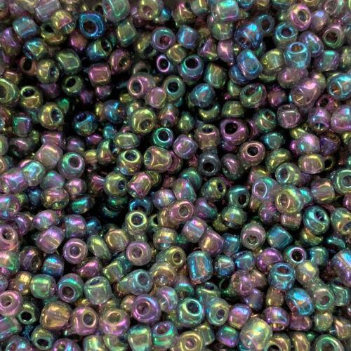 miperla 50103 ROCAILLE 25 G Nouveau Purple-Multicolour 4 mm Perles de Verre