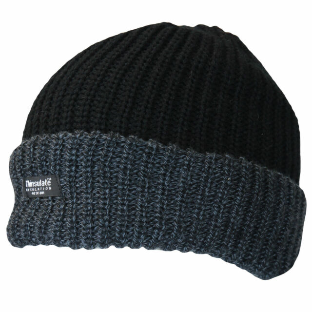 1922e48581f Thinsulate Knitted Mens Warm Winter Wooly Outdoor Chunky Beanie Ski Thermal  Hat