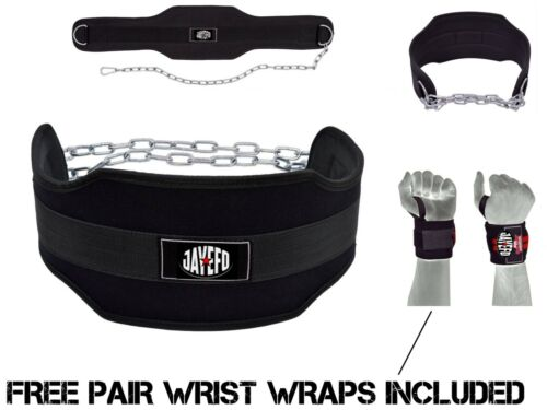 ADJUSTABLE WEIGHT LIFTING DIPPING BELT DIP TRICEPS SHOULDERS CHEST WORKOUT STEEL