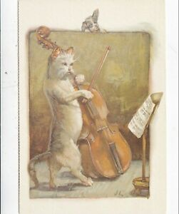 Beautiful-Mewsic-from-Cats-Postcard-unused-VGC