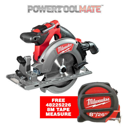 Milwaukee M18CCS55-0 18V Fuel Brushless Circular Saw with FREE 8M Tape Measure