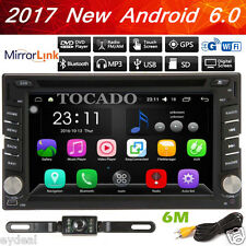 Android 6.0 2Din Car DVD Player GPS Navigation Auto Stereo Radio WiFi 3G+Camera