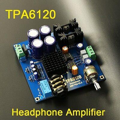 Audiophile-level HIFI TPA6120 Headphone Amplifier AMP Board DIY Kit Dual 12V-20V