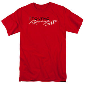 Pontiac-RED-PONTIAC-RACING-Licensed-Adult-T-Shirt-All-Sizes