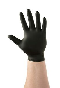 Details about  /Black Powder Latex Free 4 mil Gloves Nitrile Piercing Tattoo Small M L 20 60 100