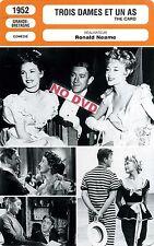 Fiche Cinéma. Movie Card. Trois dames et un as/The card (G-B) 1952 Ronald Neame