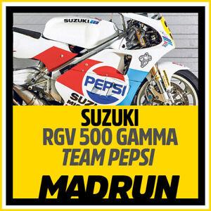 Kit-Adesivi-Suzuki-Pepsi-RGV-500-1989-Kevin-Schwantz-High-Quality-Decals