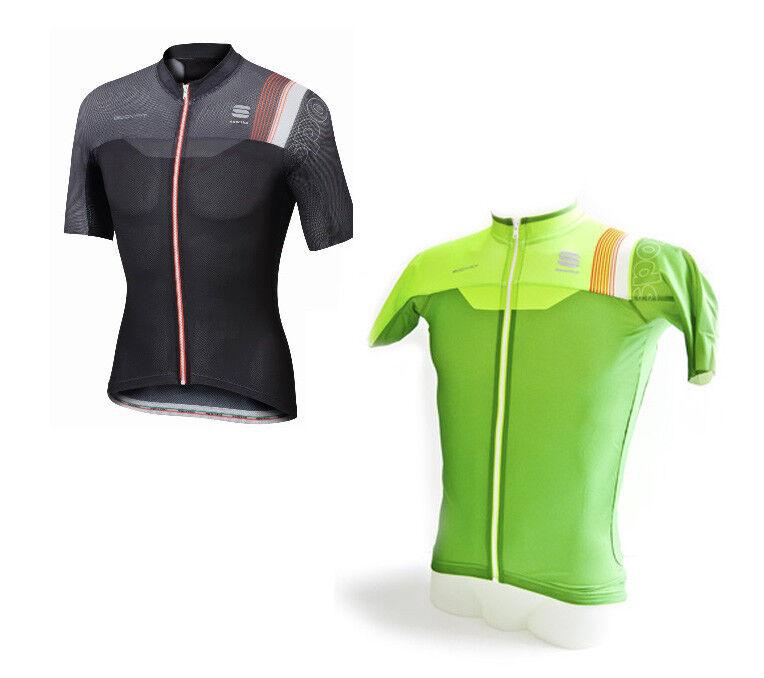 Sportful BodyFit Pro Race Jersey Aero Fahrrad-Kurzarmtrikot black green 1101726