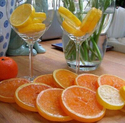 Schneidig Zitronenscheibe Orangenscheibe Plastik Deko Obst Trauben Kunstobst Früchte Top