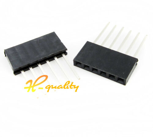 100PCS 6Pin 2.54 mm Stackable 11mm Long Legs Female Header For Arduino Shield