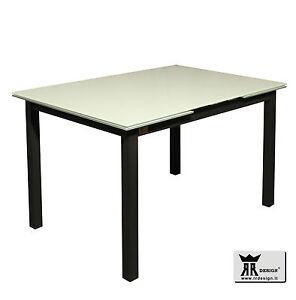 Tavolo allungabile vetro cucina salotto moderno 120x83 OFFERTA RR ...
