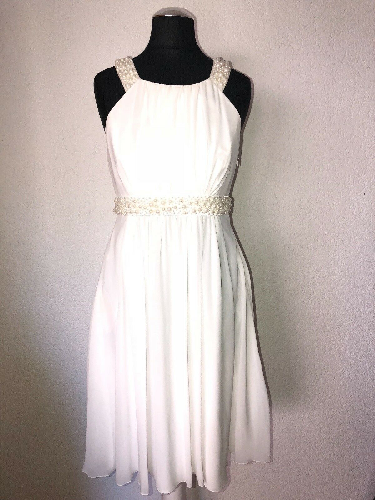❤️ APART ❤️ Ballkleid Abiball Kleid Cocktailkleid Abendkleid Perlen ❤️ Gr. 34 ❤️