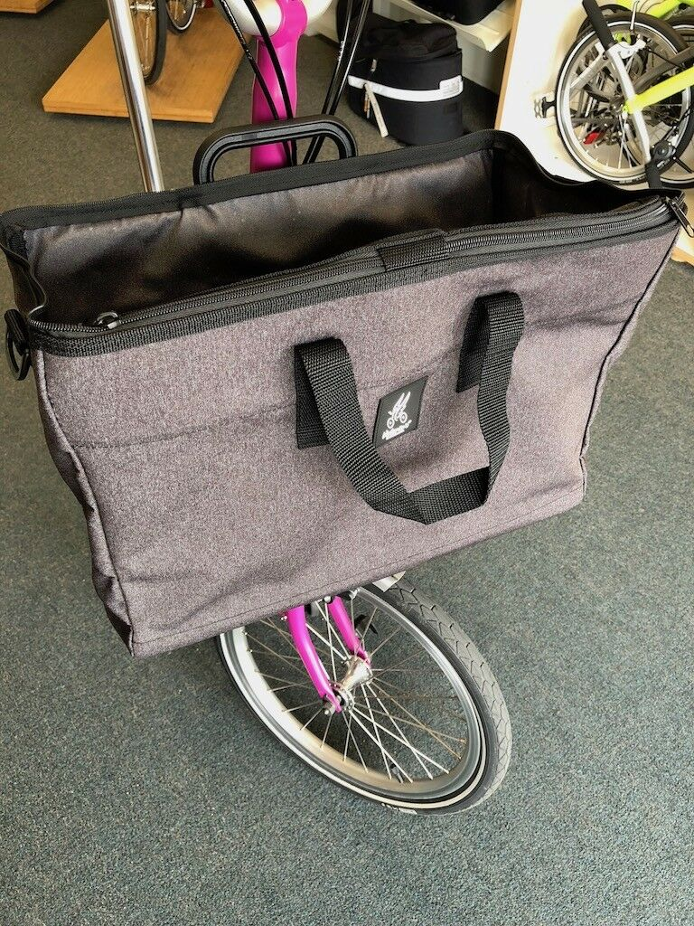 Brompton Valeria's Folding Bike davanti Basket borsa  Dark grigio