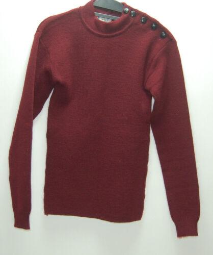 Made collo maglione con rosso collo 100 Tricomer Womens 2 pura lana France In H778ExUq