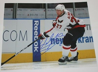 Hockey-nhl Karl Alzner Signed 8x10 Photo Capitals Coa Good For Antipyretic And Throat Soother