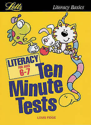 """AS NEW"" KS1 Ten Minute Tests: Literacy (ages 6-7): Age 6-7, Fidge, Louis, Book"