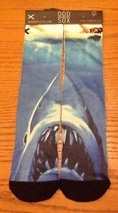 Cool Socks Jaws Knit Socks 6-13 New Movie Shark Odd