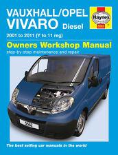 Haynes Taller reparación Manual del propietario de Opel Opel Vivaro Diesel 01 - 11 Y-11
