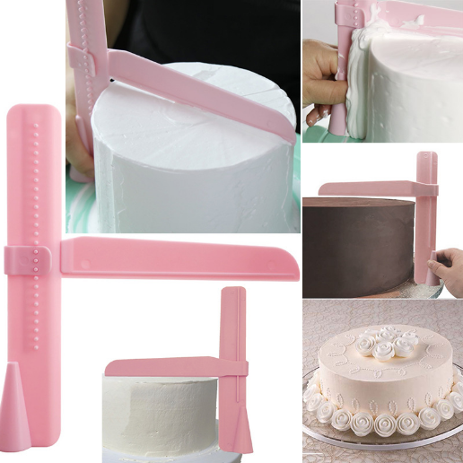 1pcs Cake Scraper Pro Butter Cream Froster Ganache Sharp Edges Adjustable