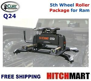 24k Curt 5th Wheel Trailer Hitch W Roller Amp Adapter For