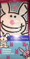 It's Happy Bunny Window Valance Standard Size Blue Kids 84 X 15 213cm X 38 Cm