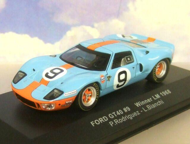 Ford GT 40 Gulf #9 Winner 24h LeMans 1968 Rodriguez Bianchi 1:43 Spark