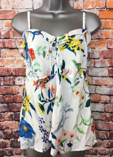 Cami Tie Mix Flora New 14 Blouse Multi Monsoon Sleeveless Frill Top Ivory Floral nUqHqg87F