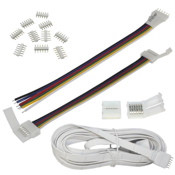 Zubehör RGBW+WW CCT LED-Streifen - Verbinder Grüneiler Verlängerungen