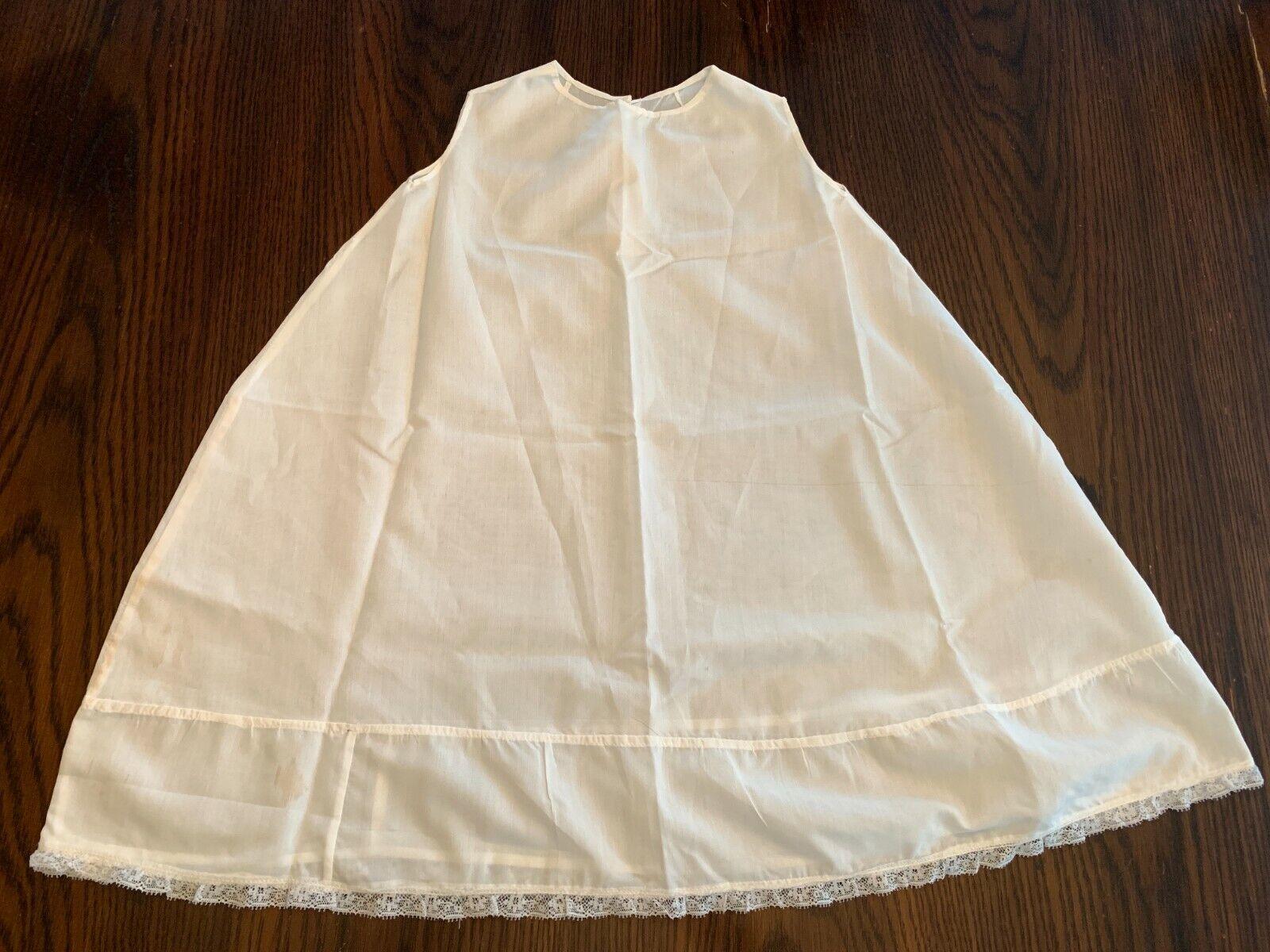 Vintage White Cotton Baby gown slip underdress sl… - image 1