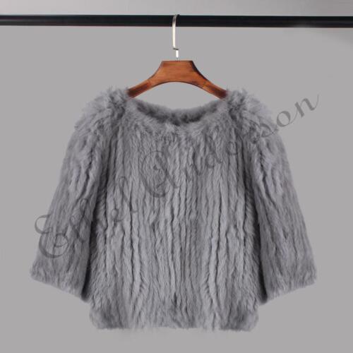 da in in vogue vera da lavorata pelliccia cappuccio con maglia donna donna a Giacca qEfp7R