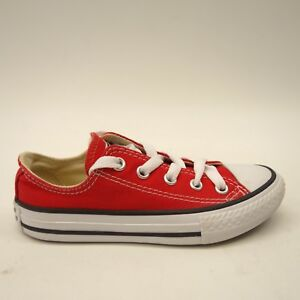 b174339efa66 New Converse Youth Chuck Taylor All Stars Low Top Solid Red Sneaker ...