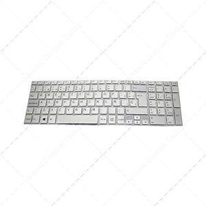 Teclado-para-portatil-Espanol-Sony-Vaio-SVF1521C5E3-Silver-Plata