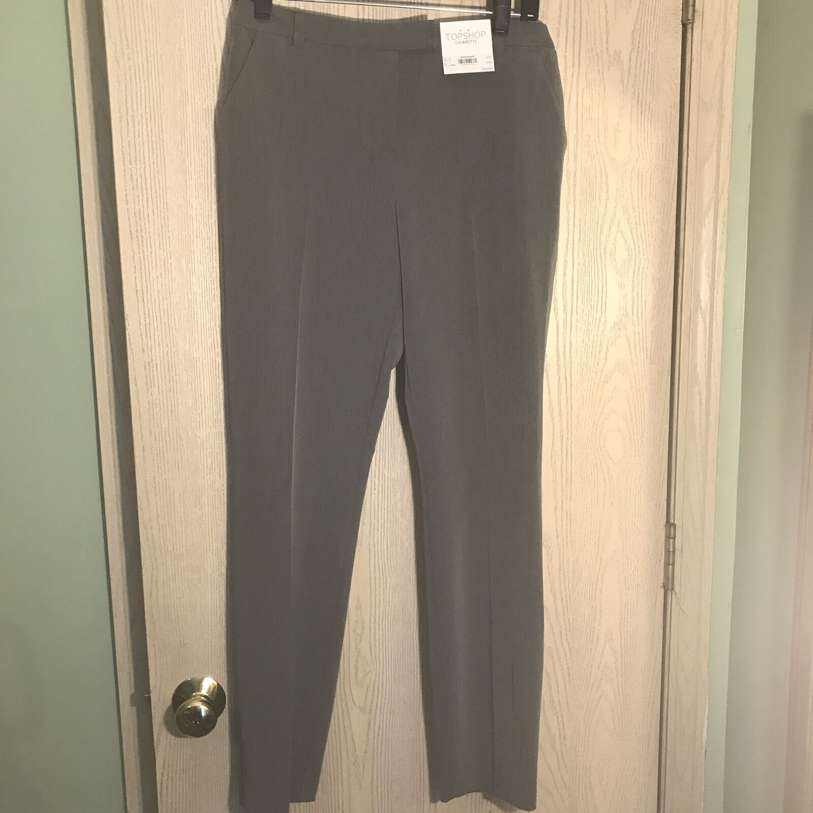 Topshop Skinny Cigarette Trousers Size 10 Long NWT