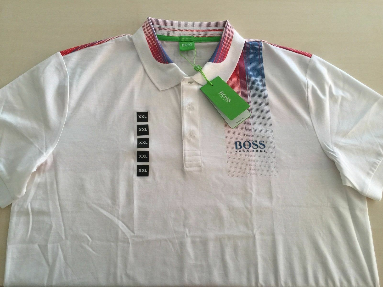 bd5f31a8 HUGO BOSS GREEN MEN'S POLO SHIRT, PADDY PRO 5, SZ 2XL MODERN FIT ...