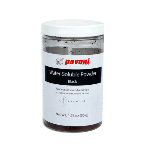 50 gr. Pavoni Black Water Soluble Powder Food Color by Antonio Bachour