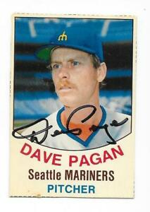 DAVE PAGAN 1977 HOSTESS AUTOGRAPHED SIGNED # 132 MARINERS