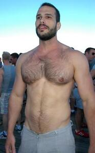 Hairy muscle dudes