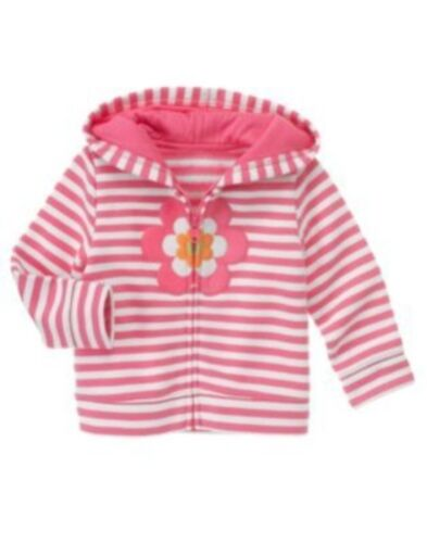 GYMBOREE GROWING FLOWERS FLOWER KNIT HOODY JACKET 3 6 12 24 2T 3T 4T 5T NWT