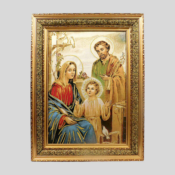 Sagrada Familia,Holy Family Cushioned Surface Double Fiber Wood Frame 5070D