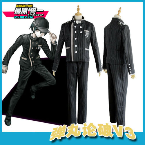Danganronpa V3 Saihara Shuichi Detective School Uniform Anime Cosplay Costume